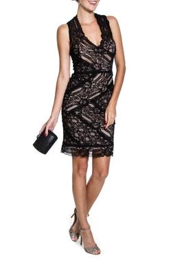 Vestido Black Lace Curto