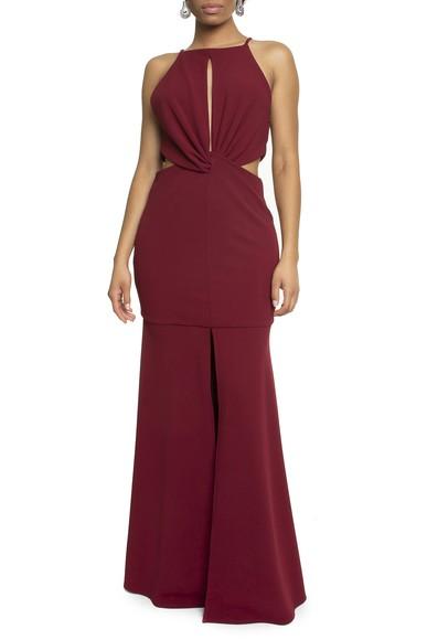 Vestido Bolton Marsala Basic Collection