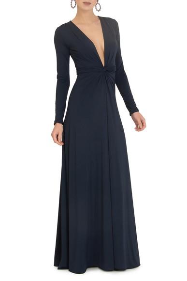 Vestido Breeze Dark Blue Anamaria Couture
