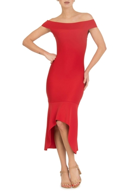 Vestido Cariri Red Midi