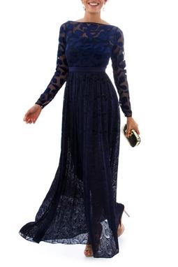 Vestido Celeste Marinho