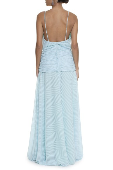 Vestido Charlize Line Light Blue Carpe