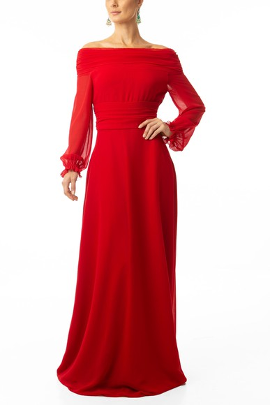 Vestido Cila Red Marcelo Quadros