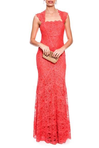 Vestido Cloe Coral Nicole Miller