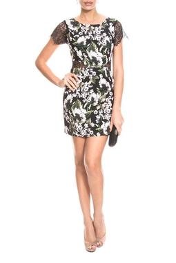 Vestido Crepe Floral