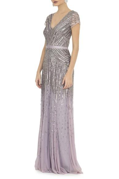 Vestido Ellaria Silver Adrianna Papell