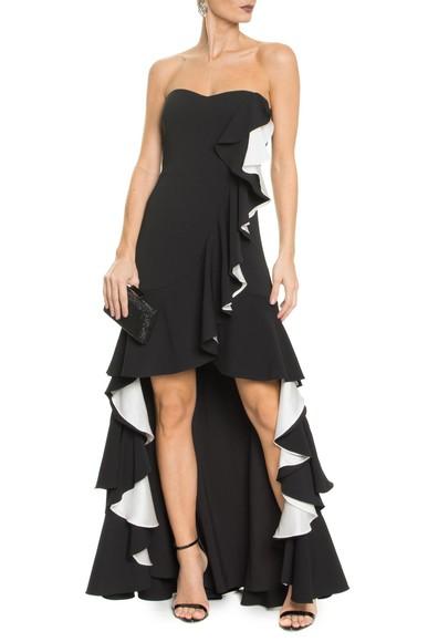 Vestido Flamenco Badgley Mischka