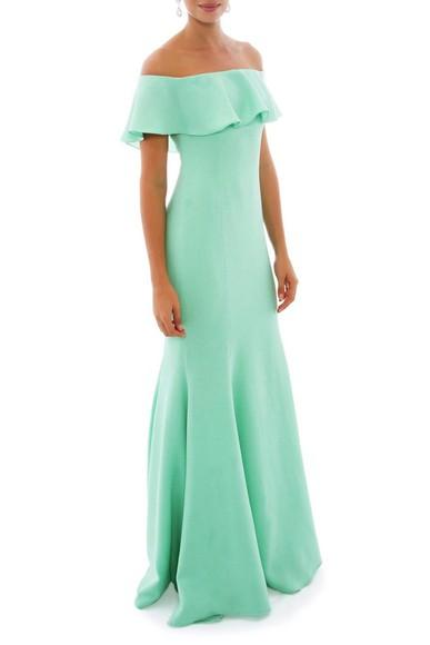 Vestido Florbela Green Marcelo Quadros