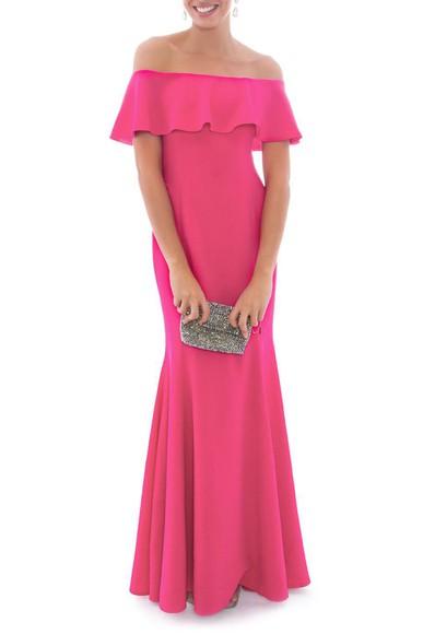 Vestido Florbela Pink Marcelo Quadros