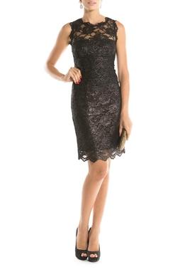 Vestido Foiled Lace