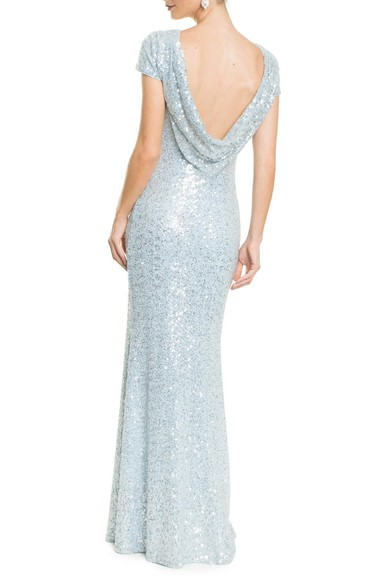 Vestido Gisele Light Blue Badgley Mischka