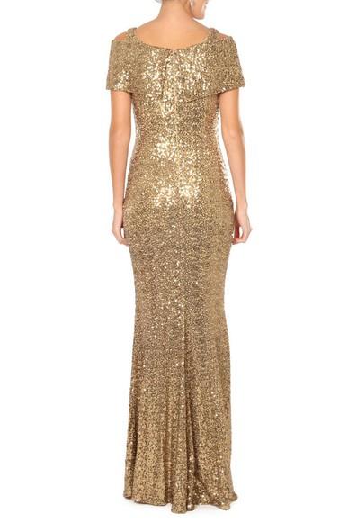 Vestido Glumb Gold Badgley Mischka