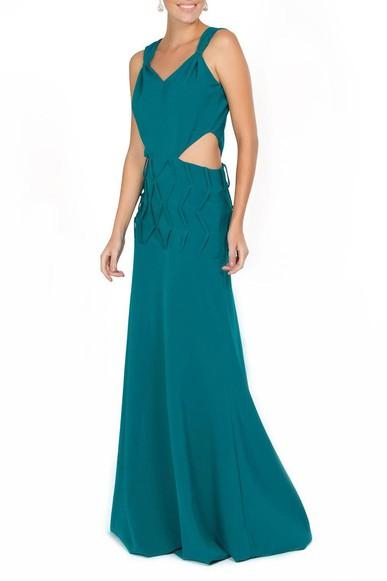 Vestido Herta Green Pynablu