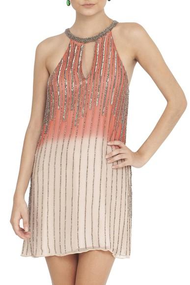 Vestido Horizonte Coral Basic Collection