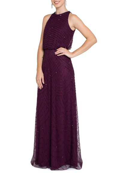 Vestido June Purple Adrianna Papell