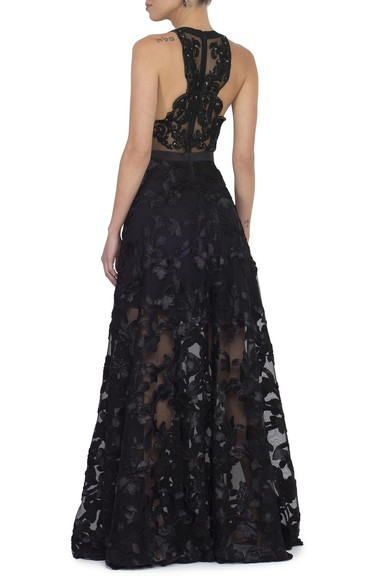 Vestido Lesley Black Badgley Mischka