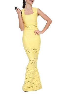 Vestido Longo Tulipa Amarelo