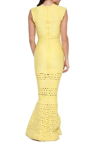 Vestido Longo Tulipa Amarelo Lolitta