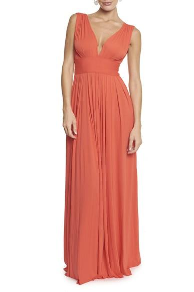 Vestido Marieta orange Anamaria Couture