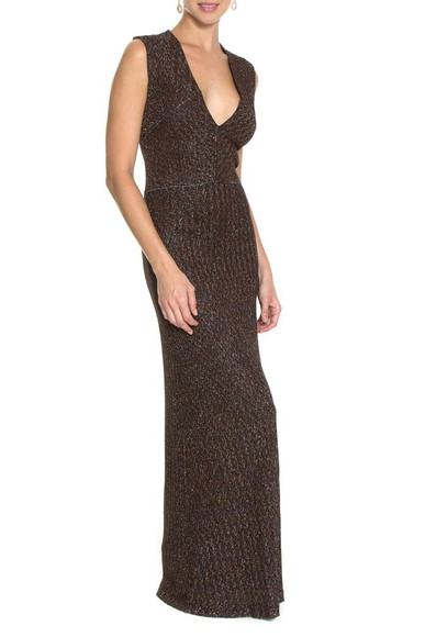 Vestido Metalic Dark Brown Missoni