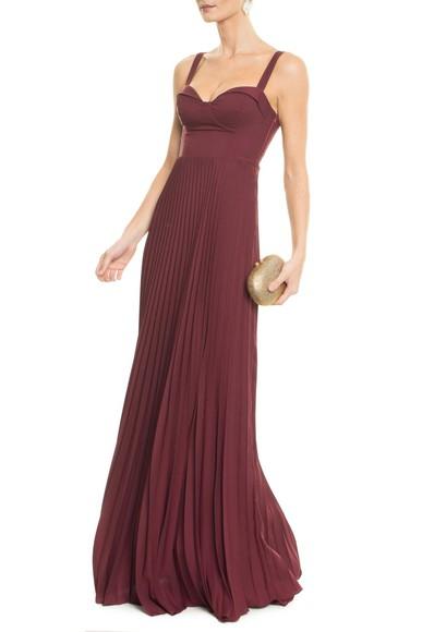 Vestido Millie Marsala Carpe