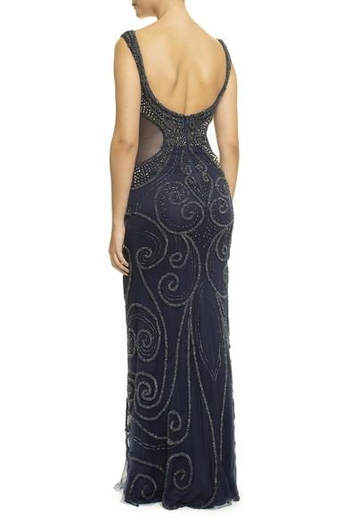 Vestido Nabhan Dark Blue Prime Collection