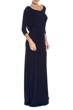 Vestido Noite Drape Blue