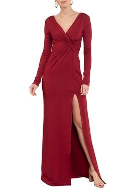 Vestido Odete Marsala