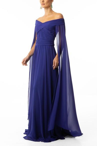 Vestido Olympia Blue Marcelo Quadros
