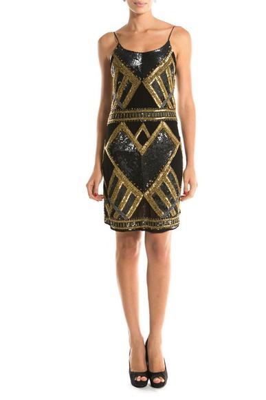 Vestido Paete Geometrico Trinita