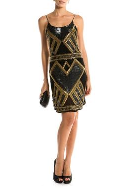 Vestido Paete Geometrico