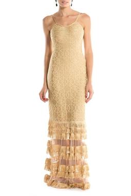Vestido Pamela Dourado