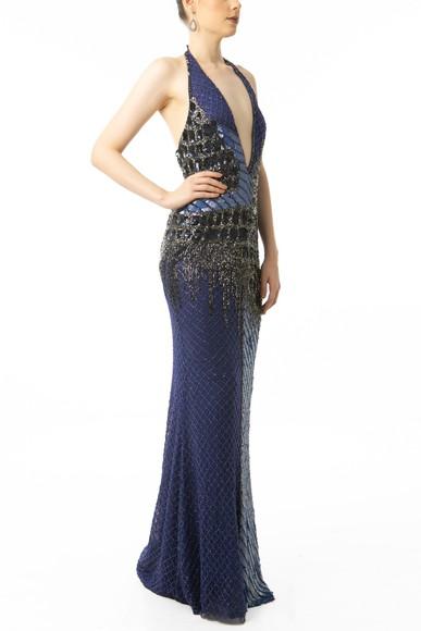 Vestido Pavoni Blue Fernanda Nabhan