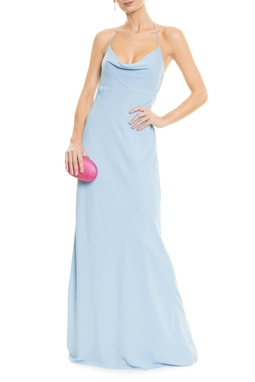 Vestido Poesia Light Blue
