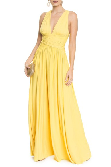 Vestido Pomona X Yellow Anamaria Couture
