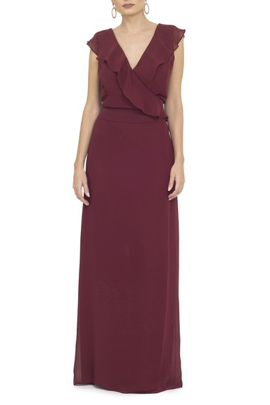 Vestido Raquelle Marsala Basic Collection