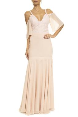 Vestido Reed Renda Rosa