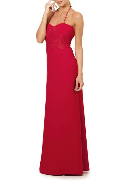 Vestido Renda Crepe Trinita