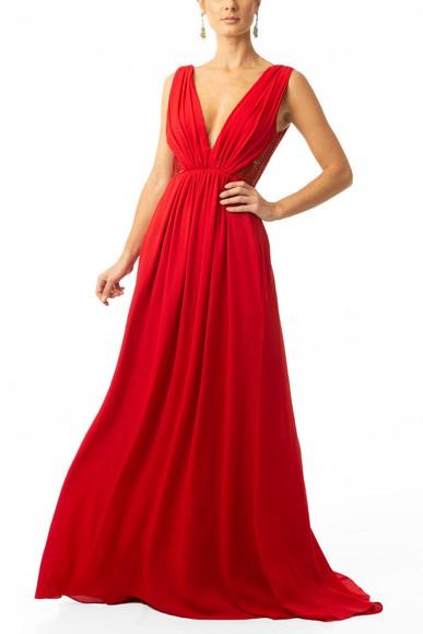 Vestido Shida Red Cecília Prado