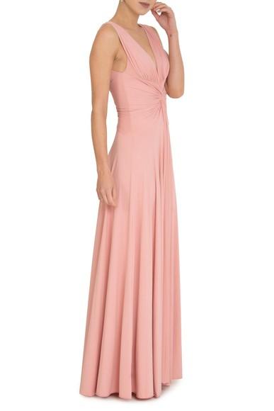 Vestido Sibila V Rose Queimado Anamaria Couture