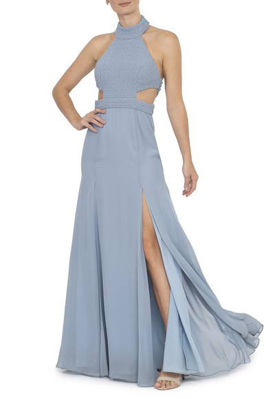 Vestido Soeiro Blue Essential Collection