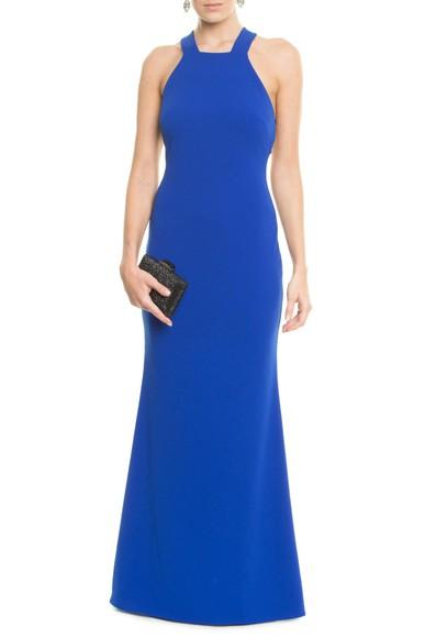 Vestido Soma Blue Badgley Mischka