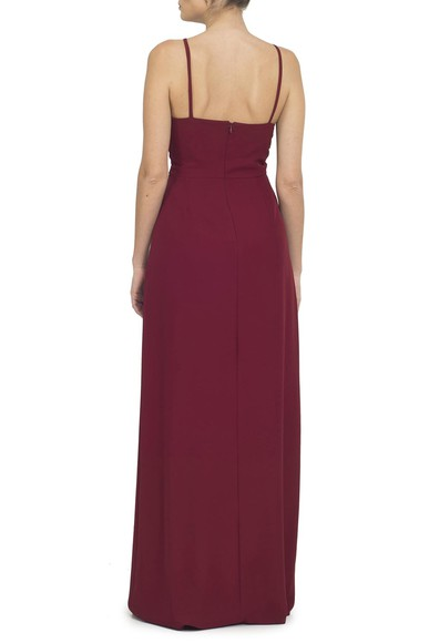 Vestido Soneto Marsala Basic Collection