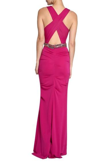 Vestido Strech Matte Pink Nicole Miller
