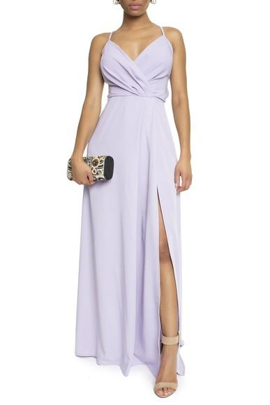 Vestido Tayba Lavanda Basic Collection