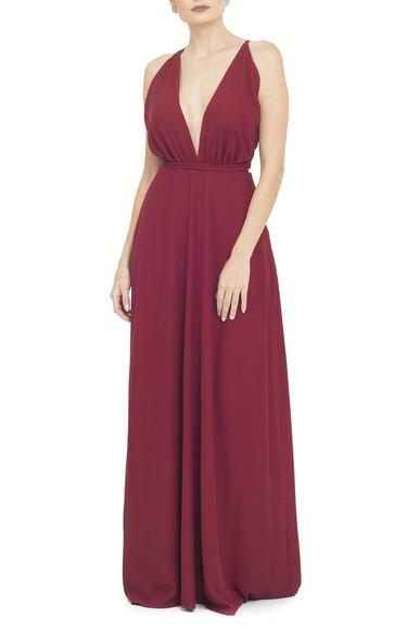 Vestido Tyrell Marsala Basic Collection