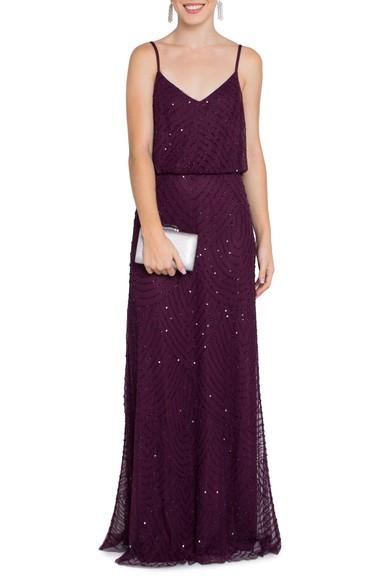 Vestido Visage Purple Adrianna Papell