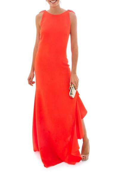 Vestido Yara Orange Marcelo Quadros