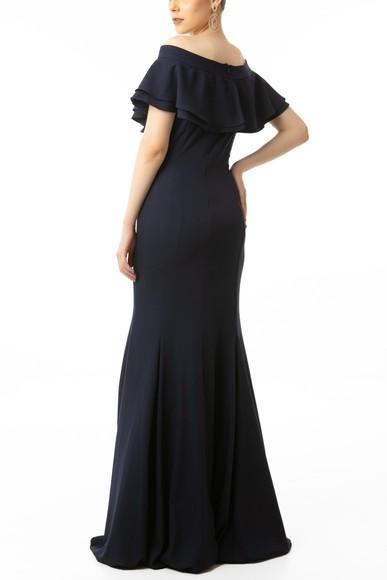 Vestido Zatir Marinho Basic Collection