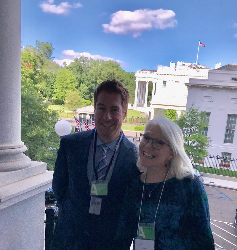 Dr. Beth Beck and Jason Duley at WhitevHouse Data Round Table